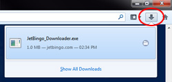 jet bingo download instructions step 1