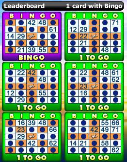 playing jet bingo 75 ball bingo game