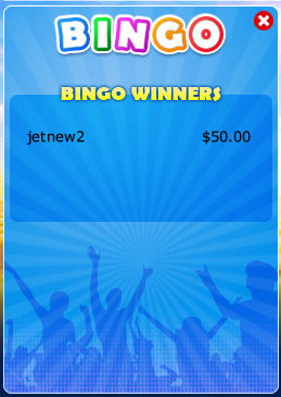 jet bingo winning bingo message