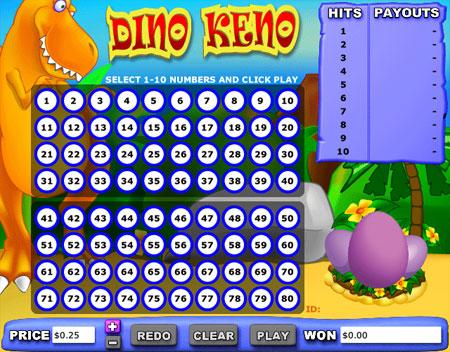 jet bingo dino keno online casino game