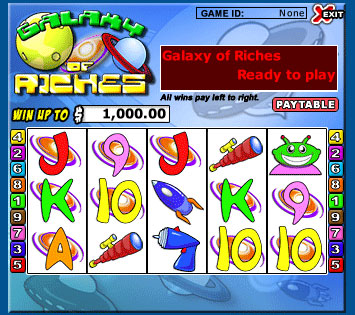 jet bingo galaxy of riches 5 reel online slots game