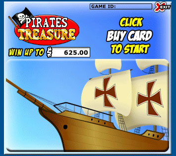 jet bingo pirates treasure scratch cards online instant win game