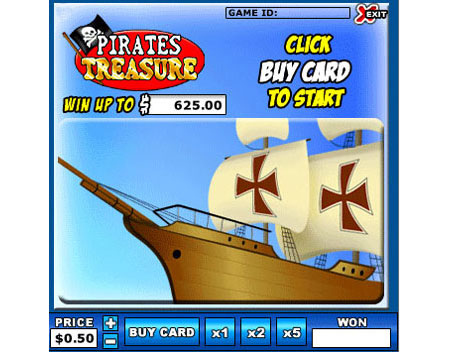 jet bingo pirates treasure online instant win game
