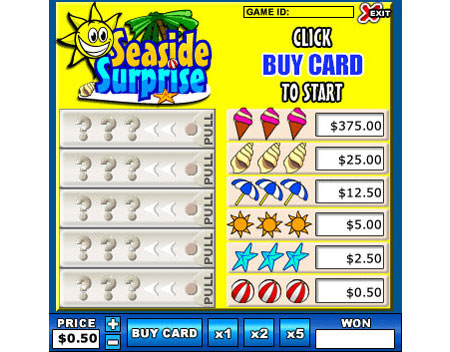 jet bingo seaside surprise online instant win game