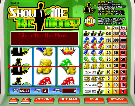 jet bingo show me the money 3 reel online slots game