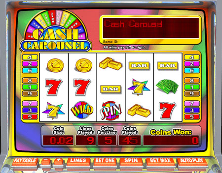 jet bingo cash carousel 5 reel online slots game