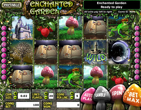jet bingo enchanted garden 5 reel online slots game