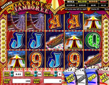 jet bingo jackpot jamboree 5 reel online slots game