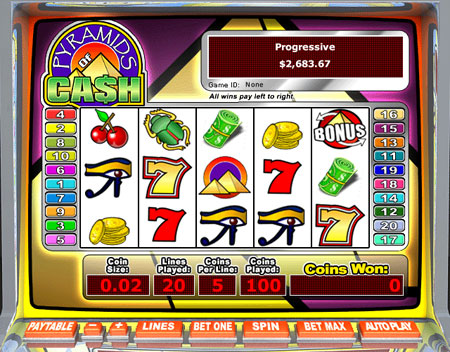 jet bingo pyramids of cash 5 reel online slots game