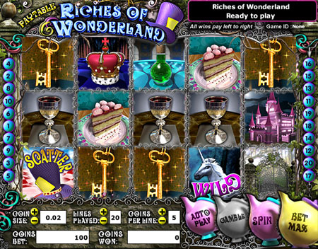 jet bingo riches of wonderland 5 reel online slots game